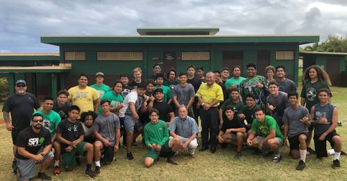 HawaiiUSA Kapaa HS Football Team